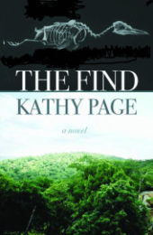 Book jacket of The Find, novel by Kathy Page