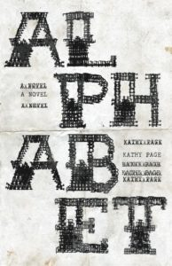 Alphabet by Kathy Page, US jacket by Kate Hargreaves