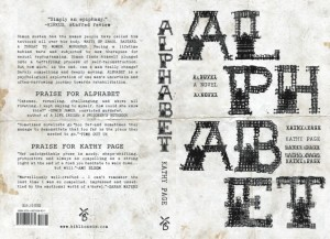 Alphabet cover US Jacket for Kathy Page's novel Alphabet by Kate Hargreaves